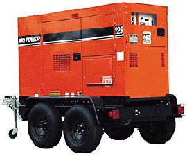 70KVA Whisperwatt Towable Diesel Generator