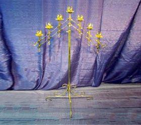 Candelabra, 7 Branch Gold