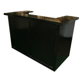 6' Black Bar on Wheels (Non-Folding)