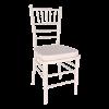 Chair, White Chiavari with Cushion