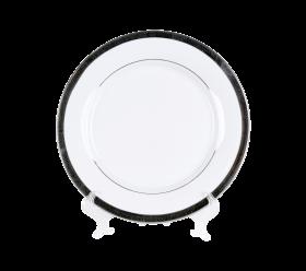 White with Grand Silver Border
