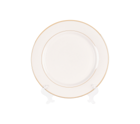 White with Gold Border
