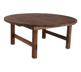 "72"" Round Farm Table"