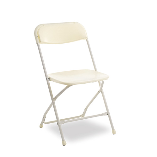 Chair, Ivory Plastic Folding