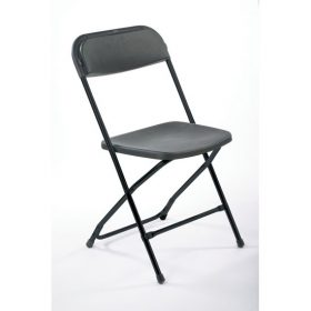 Chair, Black Plastic Folding