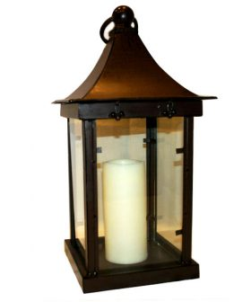 """Centerpiece, Antique Candle Lantern 23"""""""