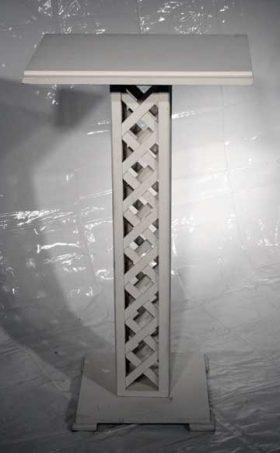 White Wood Lattice Podium