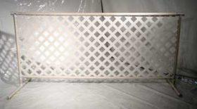 "8'x42"" White PVC Event Fence"